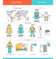 Zika virus infographic vector image