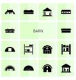 14 barn icons vector image vector image