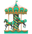 A green merry-go-round vector image vector image
