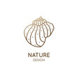 abstract seashell simple logo vector image vector image