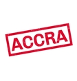 Accra rubber stamp vector image vector image