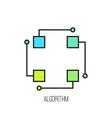 algorithm icon vector image