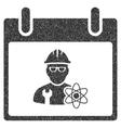 Atomic Engineer Calendar Day Grainy Texture Icon vector image vector image
