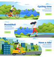 banner templates with bike roller and motorbike vector image vector image