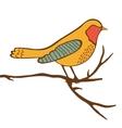 Beautiful colorful bird vector image vector image