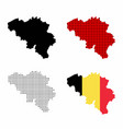 belgium map set vector image vector image