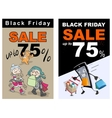 Black Friday sale up 75 percent discount Funny vector image