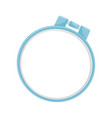 blue plastic hoop for embroidery item used for vector image
