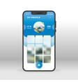 blue social network profile page ui ux gui screen vector image vector image