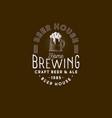 brewing logo pub emblem mug beer and foam vector image