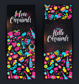 bright carnival banners in neon style vector image vector image
