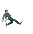 businessman kicking is a dangerous move vector image