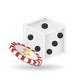 casino chips design vector image