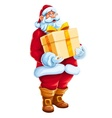 Christmas Santa Claus big gift vector image