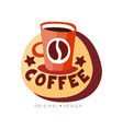 coffee shop logo design template cafeteria or vector image vector image