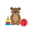 Collection of toys for kids vector image
