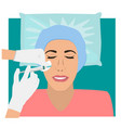 cosmetic injection with hyaluronic acid vector image