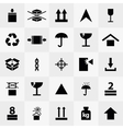 Delivery silhouette icons vector image