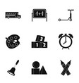 education icons set simple style vector image