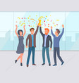 employees success man and woman worker vector image vector image