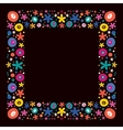 flowers nature frame border vector image vector image