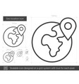 geo location line icon vector image