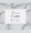 greeting card with gray marble background vector image vector image