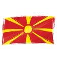 Grunge Macedonia flag vector image vector image