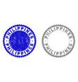 grunge philippines textured stamp seals vector image vector image