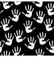 handprints background vector image vector image