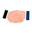 handshake e-commerce single icon in cartoon style vector image vector image
