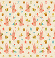 happy easter seamless pattern vector image vector image