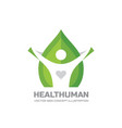 health human - logo template in flat style vector image