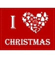 I love Christmas vector image