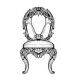 imperial baroque chair with luxurious ornaments vector image vector image