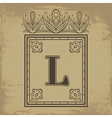 Letter L vector image vector image