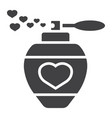 love perfume with hearts glyph icon valentines vector image vector image
