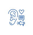Marketing communications line icon concept