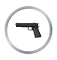 Military handgun icon in cartoon style isolated on vector image vector image