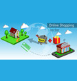 mobile shopping e-commerce vector image vector image