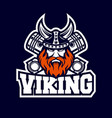 modern viking and diesel logo vector image