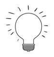 monochrome silhouette of light bulb idea icon vector image vector image