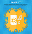 music column disco music melody speaker Floral vector image vector image