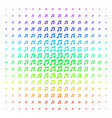 music icon halftone spectral effect vector image