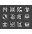 Passenger transportation white line icons vector image vector image