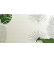 realistic green palm leaf branches on white vector image