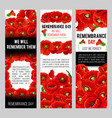 remembrance day poppy wreath with memorail ribbon vector image vector image