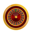 roulette casino mockup realistic style vector image vector image