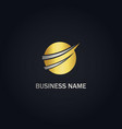 round abstract curve business logo vector image vector image