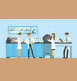 scientists man and woman working in a lab vector image vector image